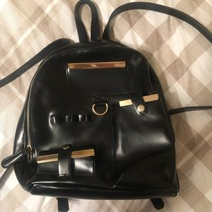 Topshop Small/Mini Backpack in Black